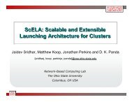 ScELA: Scalable and Extensible Launching Architecture for Clusters ...