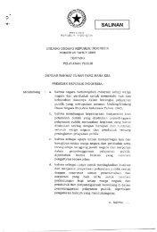 Nomor 25 Tahun 2009 tentang Pelayanan Publik