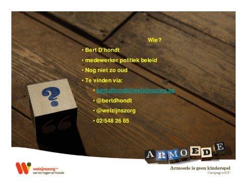 Powerpoint als inleiding bij Bert D'hondt - Studio Globo
