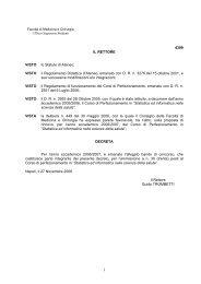 VISTO il Regolamento Didattico d'Ateneo, emanato con DR n. 3276 ...