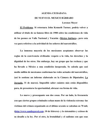 AGENDA CIUDADANA DE NUEVO EL MEXICO ... - Lorenzo Meyer