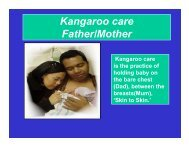 Kangaroo care Father/Mother