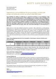 Uppgradering av mineraltillgångar för Krasny-projektet - beQuoted AB