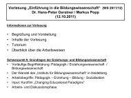 """Der Wandel des """"Instituts für Bildungswissenschaft"""" - Ruprecht-Karls ..."""