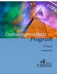 CIP Binder FY2011.pdf - Town of Morrisville