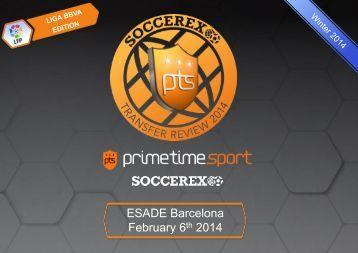 Soccerex Transfer Review 2014 - winter edition. Liga BBVA