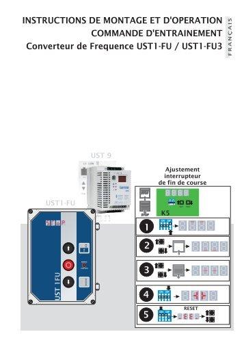 Notice de branchement moteur ust1kl condoor for Notice de montage porte de garage sectionnelle france fermeture