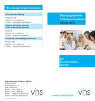 Beratungstermine - Volkshochschule Heilbronn