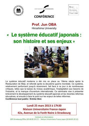 Le système éducatif Le système éducatif japonais : japonais : son ...