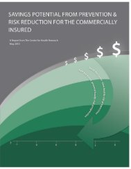 Savings Potential from Prevention & Risk ... - Health Home 1
