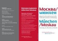 Flyer München-Moskau Bayerische und russische Schriftsteller im ...