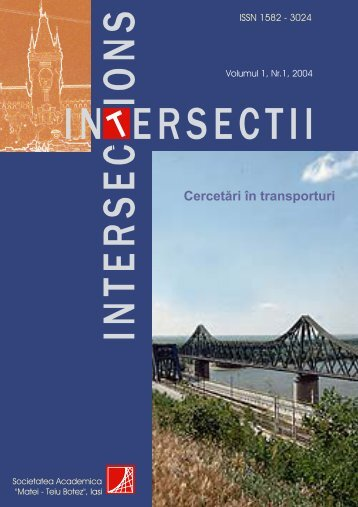 "No.1r Cercetări în transporturi - ""Intersections"" International Journal"