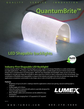 QuantumBrite Shapeable LED Backlight - Lumex