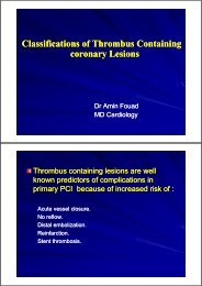 Classifications of Thrombus Containing coronary Lesions