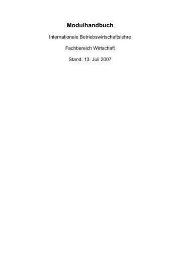 Modulhandbuch - Hochschule Fulda