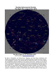 Dundee Astronomical Society The Night Sky in December 2012