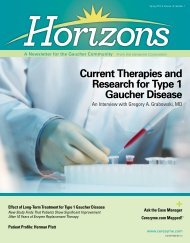Horizons Issue 1 2013 - National Gaucher Foundation