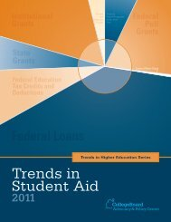 Trends in Student Aid 2011 - College Board Advocacy & Policy Center