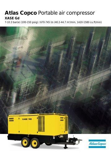 Atlas Copco Portable air compressor