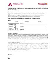 APPLICATION FORM FOR iCONNECT ... - Axis Bank Logo