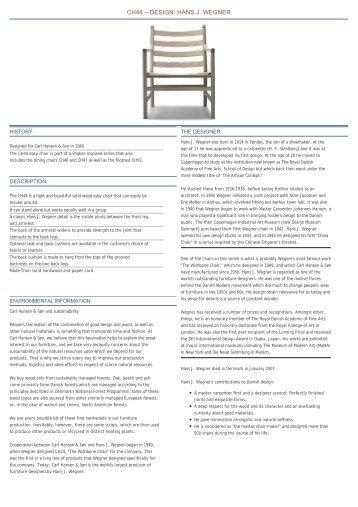 CH44 – DESIGN: HANS J. WEGNER - Archetypen