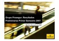 Presentación de Resultados Segundo Trimestre 2007 - Prosegur
