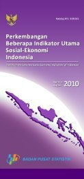 Edisi Agustus 2010 - Badan Pusat Statistik