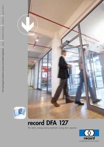 record – automatic door systems