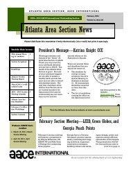 February 2011 - AACE International - Atlanta Section