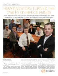 how investors turned the tables on hedge funds - Thomson Reuters