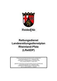 Rettungsdienst Landesrettungsdienstplan Rheinland-Pfalz (LRettDP)