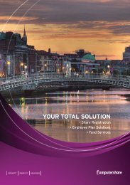 YOUR TOTAL SOLUTION - Computershare