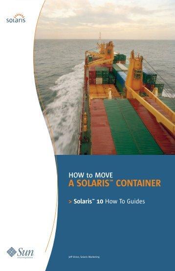 A SOLARIS™ CONTAINER