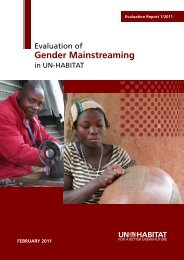 Evaluation of Gender Mainstreaming in UN-HABITAT - Gender Climate
