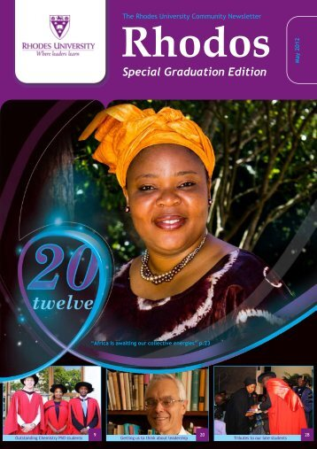 Special Graduation Edition - Science Faculty Home Page - Rhodes ...