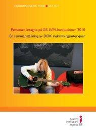 Personer intagna på SiS LVM-institutioner 2010 - Statens ...
