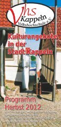 Notizen - Volkshochschule Kappeln