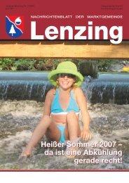 Heißer Sommer 2007 – da ist eine Abkühlung gerade ... - Lenzing