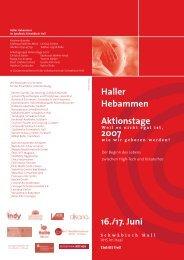 Haller Hebammen Aktionstage 2007 - Hebammenverband ...