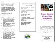 Counseling Connections Brochure - Island County Government