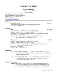 CURRICULUM VITAE Hyewon Chung - John Jay College Of ...