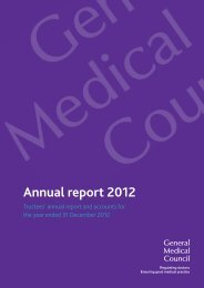 General Medical Council Annual Report and Accounts 2012