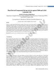 Plant Derived Compounds Having Activity against ... - AstonJournals