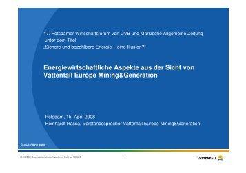 Energiewirtschaftliche Aspekte aus der Sicht von ... - akb-kunststoff.de