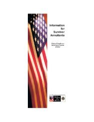 FERS Survivor Guide - Federal Employee's Retirement Guide ...