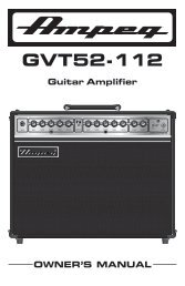 GVT52-112 Manual - Ampeg