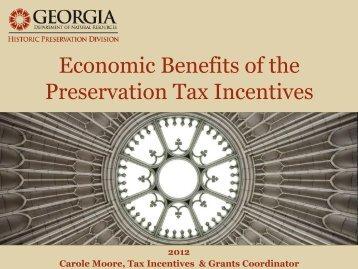 Economic Benefits - Historic Savannah Foundation