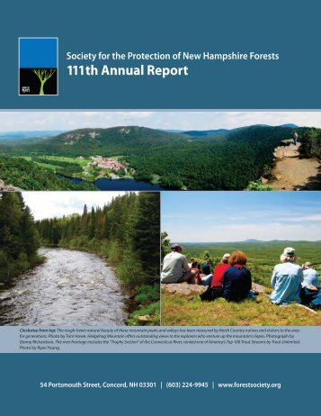 111th Annual Report - Society for the Protection of New Hampshire ...