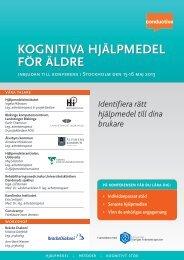 B FöR ÄLDRE KOGNITIVA HJÄLPMEDEL MEDEL - Conductive