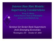 Interest Rate Risk Models: Supervisory Considerations - World Bank